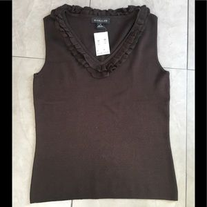 Tops - Harold's 80% silk sleeveless fitted blouse NWT